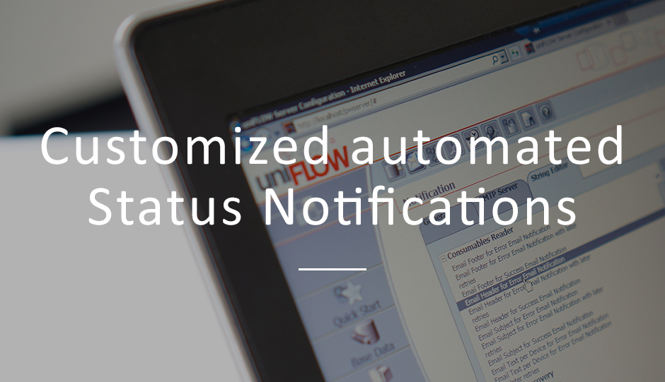 Notification, Printer, Workflows, uniFLOW